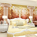 cheap Wall Murals-Art Deco 3D Home Decoration Retro Wall Covering, Canvas Material Adhesive required Mural, Room Wallcovering
