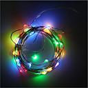 billiga LED-ljusslingor-RGB-ljusslingor 50 lysdioder Varmvit / RGB / Vit Dekorativ