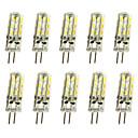 billiga Glödlampor-10pcs 1 W LED-lampor med G-sockel 120 lm G4 T 24LED LED-pärlor SMD 3014 Dekorativ Varmvit Kallvit 12 V / 10 st / RoHs