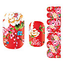 billiga Heltäckande nagelklistermärken-3D Nagelstickers nagel konst manikyr Pedikyr Vackert Blomma / Mode Dagligen / 3D Nail Stickers