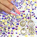 Χαμηλού Κόστους Άλλα Εργαλεία-1set Στρας τέχνη νυχιών Μανικιούρ Πεντικιούρ Καθημερινά Glitters / Neon & Bright / Μοντέρνα