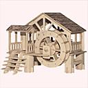 ราคาถูก จิ๊กซอว์3D-จิ๊กซอว์ ปริศนาไม้ การก่อสร้างตึก ของเล่น DIY อาคารที่มีชื่อเสียง สถาปัตยกรรมแบบจีน บ้าน 1 ไม้ คริสตัล รุ่นและอาคารของเล่น