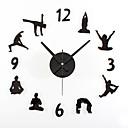 ราคาถูก นาฬิกาติดผนัง DIY-สมัยใหม่ร่วมสมัย Retro อะคริลิค Metal รอบ ในที่ร่ม / กลางแจ้ง