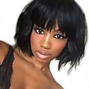 Χαμηλού Κόστους Χωρίς κάλυμμα-Φυσικά μαλλιά Δαντέλα Μπροστά Χωρίς Κόλλα / Δαντέλα Μπροστά Περούκα Βραζιλιάνικη Κυματιστό / Φυσικό Κυματιστό Περούκα Κούρεμα καρέ / Με αφέλειες 130% / Περούκα αφροαμερικανικό στυλ
