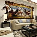 povoljno Umjetna Cvijet-Cvjetni print Art Deco 3D Početna Dekoracija Suvremena Zidnih obloga, Platno Materijal Ljepila potrebna Mural, Soba dekoracija ili