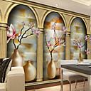 billige Veggklistremerker-Blomstret Art Deco 3D Hjem Dekor Moderne Tapetsering, Lerret Materiale selvklebende nødvendig Veggmaleri, Tapet
