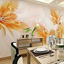 ราคาถูก ภาพจิตรกรรมฝาผนัง-ลายดอกไม้ อาร์ต เดคโค 3D ของตกแต่งบ้าน ร่วมสมัย ครอบคลุมผนัง, ผ้าใบ วัสดุ กาวที่จำเป็น ภาพจิตรกรรมฝาผนัง, Wallcovering ห้อง