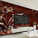 billiga Mural-Blom Konst Dekor 3D Bakgrund För hemmet Nutida Tapetsering , Kanvas Material lim behövs Väggmålning , Tapet