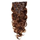 זול צמות שיער-נתפס עם קליפס תוספות שיער אדם Body Wave שיער בתולי תוספות שיער משיער אנושי שיער ברזיאלי בגדי ריקוד נשים Beige
