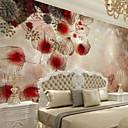 Χαμηλού Κόστους Τοιχογραφία-Φλοράλ Art Deco 3D Αρχική Διακόσμηση Σύγχρονο Κάλυψης τοίχων, Καμβάς Υλικό κόλλα που απαιτείται Τοιχογραφία, δωμάτιο Wallcovering