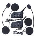 Χαμηλού Κόστους Ακουστικά Κράνους-2pcs 1200μ αδιάβροχο κράνος μοτοσικλέτας ενδοεπικοινωνίας bluetooth ενδοεπικοινωνία ακουστικό v6 ενδοεπικοινωνία intercomunicador