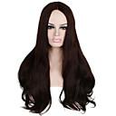 billige Byggeblokker-Syntetisk blonder foran parykker Rett Rett Blonde Forside Parykk Beige Syntetisk hår Dame Naturlig hårlinje Midtskill Brun