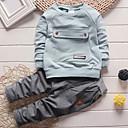 Χαμηλού Κόστους Σετ ρούχων για αγόρια-Νήπιο Αγορίστικα Καθημερινά Μονόχρωμο Μακρυμάνικο Μακρύ Βαμβάκι Σετ Ρούχων Γκρίζο