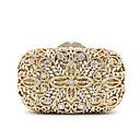Χαμηλού Κόστους Τσαντάκια & Βραδινές Τσάντες-Γυναικεία Κρύσταλλο / Στρας Μεταλλικό Βραδινή τσάντα Κρύσταλλο Βραδινά Τσάντες Κρυστάλλινα Φλοράλ Χρυσό