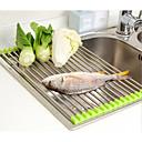 Χαμηλού Κόστους Ράφια & Στγρίγματα-αποστειρωτή λαχανικών ρολό ανοξείδωτο χάλυβα νεροχύτη στεγνωτήριο ράφι πτυσσόμενο κουζίνα κάτοχος