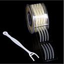 Χαμηλού Κόστους βλεφάρου εργαλεία-Βλέφαρο Αυτοκόλλητα βλεφαρίδων Εκτεταμένο / Προσαρμοσμένη Φόρμα / Φορητά Μακιγιάζ 600 pcs Άλλο Υλικό Στρογγυλό / Others Τσάντες Machiaj Zilnic Pokrivenost Φυσικό Καλλυντικό Είδη καλωπισμού