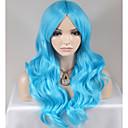 billiga Syntetiska peruker utan hätta-Syntetiska peruker Löst vågigt Löst vågigt Peruk Lång Väldigt länge Blå Syntetiskt hår Dam Blå