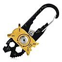 Χαμηλού Κόστους Camera Bag-Τιρμπουσόν Survival Kit Πολυεργαλεία Κλειδιά Πολλαπλών λειτουργιών Επιβίωση Ανοξείδωτο Ατσάλι Πεζοπορία Κατασκήνωση Για Υπαίθρια Χρήση Ταξίδια HiUmi Μαύρο