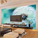 billiga Mural-stor 3d tapeter väggmålning enkel vit maskros blå bakgrund vardagsrum sovrum tv bakgrund wallcoving448 × 280cm