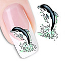 cheap Water Bottle Cages-1 pcs Water Transfer Sticker nail art Manicure Pedicure Fashion Daily
