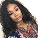povoljno Perike s ljudskom kosom-Ljudska kosa Perika s prednjom čipkom bez ljepila Lace Front Perika Rihanna stil Brazilska kosa Kovrčav Priroda Crna Perika 130% Gustoća kose s dječjom kosom Prirodna linija za kosu Afro-američka
