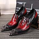 ราคาถูก รองเท้าแตะ & Flip-Flops ผู้ชาย-สำหรับผู้ชาย Novelty Shoes แน๊บป้า Leather ฤดูใบไม้ผลิ / ตก รองเท้า Oxfords สีดำ / งานแต่งงาน / พรรคและเย็น / พรรคและเย็น / รองเท้าสบาย ๆ