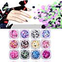 billiga Bröllopsdekorationer-12pcs Glitter Paljetter nagel konst manikyr Pedikyr Dagligen Glitters / Neon & Bright / Mode
