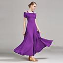 Χαμηλού Κόστους Ρούχα για μπαλέτο-Επίσημος Χορός Φορέματα Γυναικεία Επίδοση Mohair Που καλύπτει Κοντομάνικο Φυσικό Φόρεμα