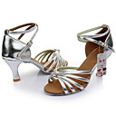 Χαμηλού Κόστους Παπούτσια χορού λάτιν-Γυναικεία Παπούτσια Χορού Σατέν / Δερματίνη Παπούτσια χορού λάτιν Αγκράφα Πέδιλα Προσαρμοσμένο τακούνι Εξατομικευμένο Μαύρο / Κόκκινο / Λεοπαρδαλί / Δερματί / Εσωτερικό / Δέρμα / EU40