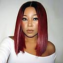 povoljno Praktični poklončići-Remy kosa Full Lace Perika Bob frizura stil Peruanska kosa Ravan kroj Perika 130% Gustoća kose s dječjom kosom Prirodna linija za kosu Afro-američka perika 100% rađeno rukom Žene Kratko Srednja
