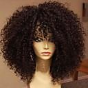 povoljno Perike s ljudskom kosom-Ljudska kosa Perika pune čipke bez ljepila Full Lace Perika stil Brazilska kosa Kinky Curly Perika 130% Gustoća kose s dječjom kosom Prirodna linija za kosu Afro-američka perika 100% rađeno rukom Žene