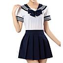 Χαμηλού Κόστους Κοστούμια Anime-Εμπνευσμένη από Sailor Moon Μαθήτριες Anime Στολές Ηρώων Ιαπωνικά Κοστούμια Cosplay Ριγέ Κοντομάνικο Πουκάμισο / Φούστα Για Κοριτσίστικα
