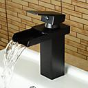 Χαμηλού Κόστους Κρεμάστρες για Μπουρνούζια-Μπάνιο βρύση νεροχύτη - Καταρράκτης Λαδωμένο Μπρούντζινο Αναμεικτικές με ενιαίες βαλβίδες Ενιαία Χειριστείτε μια τρύπαBath Taps