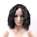 billiga Syntetiska peruker utan hätta-Syntetiska peruker Löst vågigt Löst vågigt Peruk Korta Svart Syntetiskt hår Dam Svart