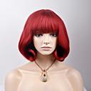 ราคาถูก คอนซีลเลอร์และคอนทัวร์-วิกผมสังเคราะห์ Straight ตรง ผมปลอม Short Red สังเคราะห์ สำหรับผู้หญิง แดง