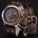 ราคาถูก โคมไฟระย้า-สำหรับผู้ชาย นาฬิกาแนวสปอร์ต นาฬิกาเห็นกลไกจักรกล นาฬิกาทหาร ไขลานอัตโนมัติ สแตนเลส หนังแท้ ดำ / ฟ้า / เงิน 50 m เท่ห์ Punk ระบบอนาล็อก ความหรูหรา วินเทจ ไม่เป็นทางการ อำพราง - สีน้ำตาล บรอนซ์ Silver