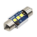 billige Interiørlamper til bil-SO.K 2pcs 31mm Bil Elpærer 3 W SMD 5730 300 lm LED interiør Lights