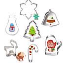 billiga Bakformar-7pcs Rostfritt stål Jul GDS (Gör det själv) Tårta Kaka Paj tecknad Shaped Djur bakformen Bakeware verktyg