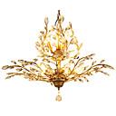 ราคาถูก โคมไฟระย้า-LightMyself™ 8-Light คริสตัล ไฟจี้ Ambient Light ทองเหลือง โลหะ คริสตัล, LED 110-120โวลล์ / 220-240โวลต์ ไม่รวมหลอดไฟ / E12 / E14