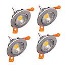 billiga LED-infällda lampor-zdm 5st dimbar 3x2w cob led lampa 400-500 lm led taklampor försänkta eftermonterad lysdioder varm vit kall vit AC 110v / ac 220v