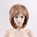 billiga Modeörhängen-Syntetiska peruker Naturligt vågigt Stil Utan lock Peruk Blond Blond Syntetiskt hår Dam Blond Peruk Korta