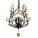 ราคาถูก โคมไฟระย้า-LightMyself™ 3-Light โคมไฟระย้า Uplight ทาสีเสร็จสิ้น โลหะ คริสตัล, LED 110-120โวลล์ / 220-240โวลต์ ไม่รวมหลอดไฟ / E12 / E14