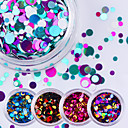 billige Negleglitter-12pcs Glimmer Paljetter Neglekunst Manikyr pedikyr Daglig Glitters / Mote