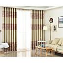 זול וילונות חלון-מותאם אישית עשה האפלה האפלה וילונות וילונות שני לוחות אדום / jacquard / חדר שינה