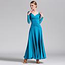 Χαμηλού Κόστους Ρούχα για χοροεσπερίδα-Επίσημος Χορός Φορέματα Γυναικεία Επίδοση Τούλι / Mohair Χιαστί Μακρυμάνικο Φυσικό Φόρεμα