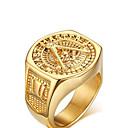 Χαμηλού Κόστους Αντρικά Κολιέ-Ανδρικά Δακτύλιος Δήλωσης δαχτυλίδι αντίχειρα Χρυσαφί Επιχρυσωμένο Κιτρινόχρυσο κυρίες Εξατομικευόμενο Πεπαλαιωμένο Στυλ Γάμου Πάρτι Κοσμήματα Love οικογενειακό έμβλημα