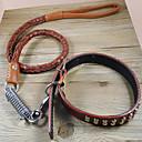ราคาถูก ปลอกคอ สายจูง สายรัดสำหรับสุนัข-แมว สุนัข Horse ปลอกคอ เชือกจูงสุนัข การฝึก สีพื้น หนังแท้ สีดำ สีน้ำตาล