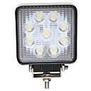 baratos Luzes de Neblina para Carros-JIAWEN 1 Peça Conexão de fio Carro Lâmpadas 27 W LED de Alto Rendimento 9 LED Luz Anti Neblina Para Todos os Anos
