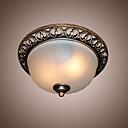 billiga Takfasta och semitakfasta taklampor-2-Light Takmonterad Glödande Rektangulär Metall Glas Ministil, designers 110-120V / 220-240V Glödlampa inte inkluderad / E26 / E27