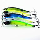 ราคาถูก โคมไฟระย้า-5 pcs Minnow ที่ลวงตาในเบ็ด Minnow Sinking Bass ปลาเทราท์ หอก การตกปลาทั่วไป พลาสติก
